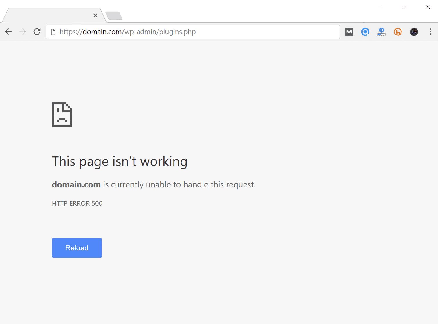 error 500 en website.
